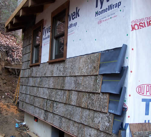 Poplar Bark Siding Installation Parton Bark Siding