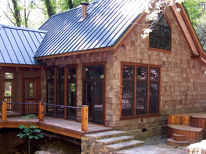 Bark siding home portfolio parton bark siding for Bark house siding
